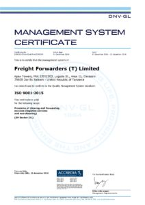 ISO Management System Certificate